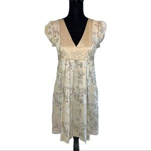 BCBG Girls Front Pleated Floral Dress NWT